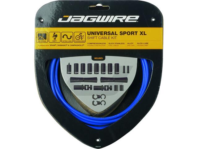 Jagwire Sport XL Universal Schaltzugset für Shimano/SRAM/Campagnolo 4000mm blau